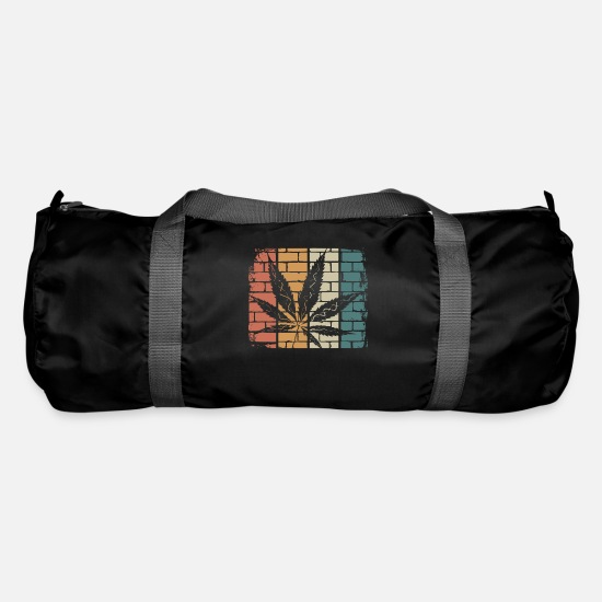 Hemp Bags & Backpacks - Cannabis grass - Duffle Bag black