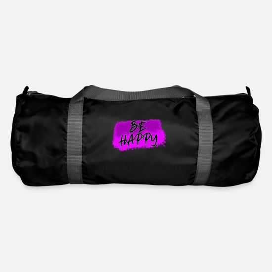 Gift Idea Bags & Backpacks - Be happy. Be happy - Duffle Bag black