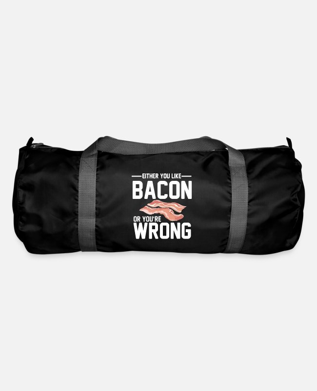 Swanson Bags & Backpacks - Either You Like Bacon Or You're Wrong Funny - Duffle Bag black