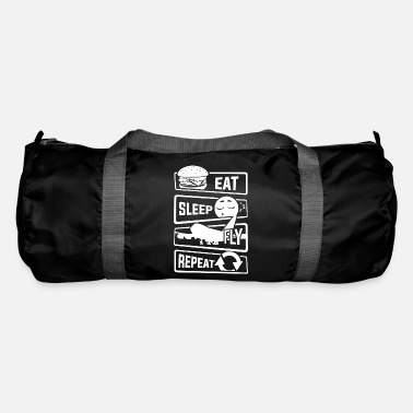 Airman Eat Sleep Fly Repeat - Aircraft Pilot Airman Flight - Duffel Bag