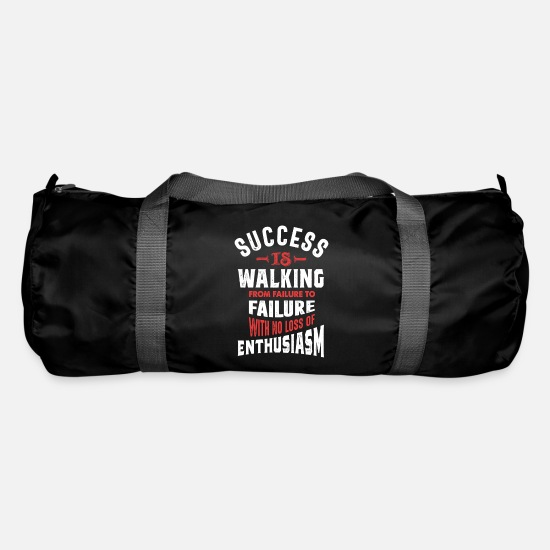Typography Bags & Backpacks - Success is Walking - Duffle Bag black
