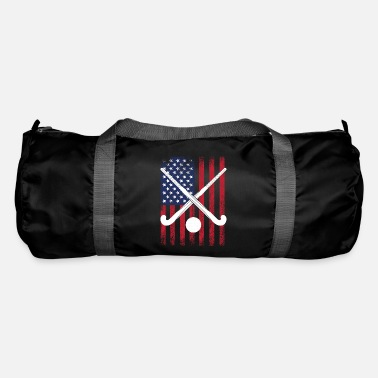 Hockeysticks Felthockey USA Flag krydsede hockeysticks - Sportstaske