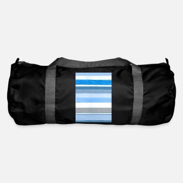 Blue White Stripes blue white - Duffle Bag