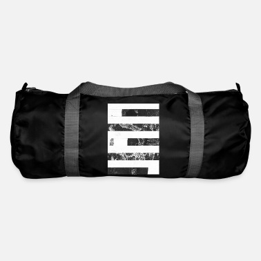 Lino Cut Stripes black white - Duffle Bag