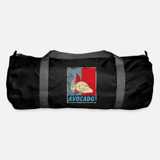 Avocado Bags & Backpacks - Avocado poster - Duffle Bag black