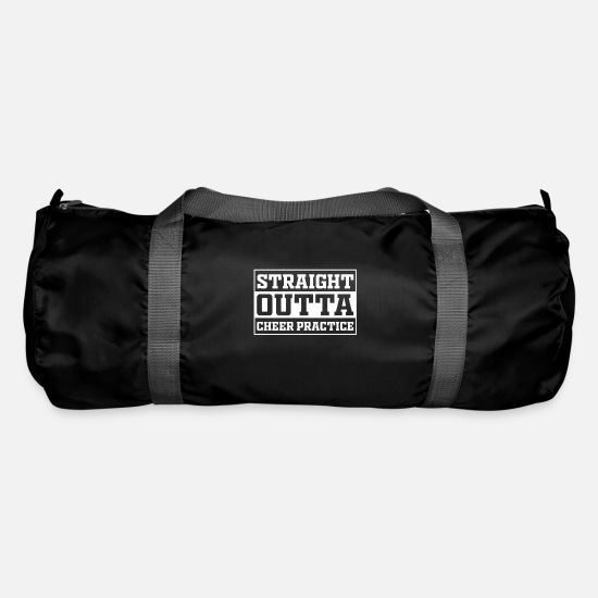 Gift Idea Bags & Backpacks - Straight Outta Cheer Practice - Duffle Bag black