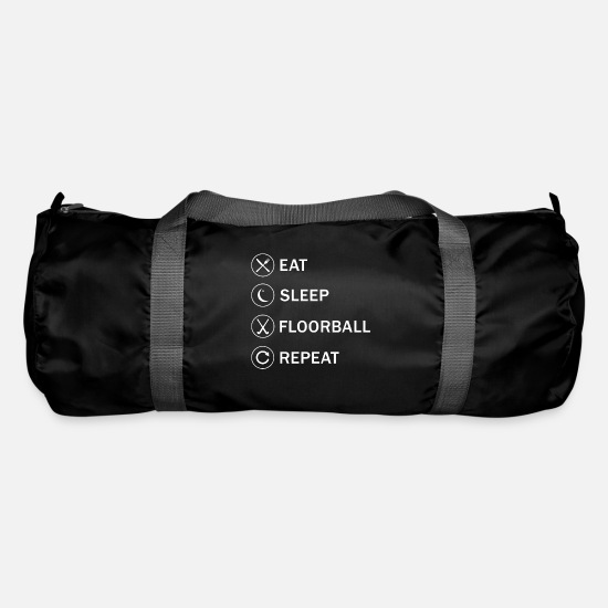 Floor Hockey Bags & Backpacks - Indoor hockey floorball player sports team gift - Duffle Bag black