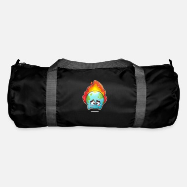 Sad Earth Global Warming - Duffle Bag