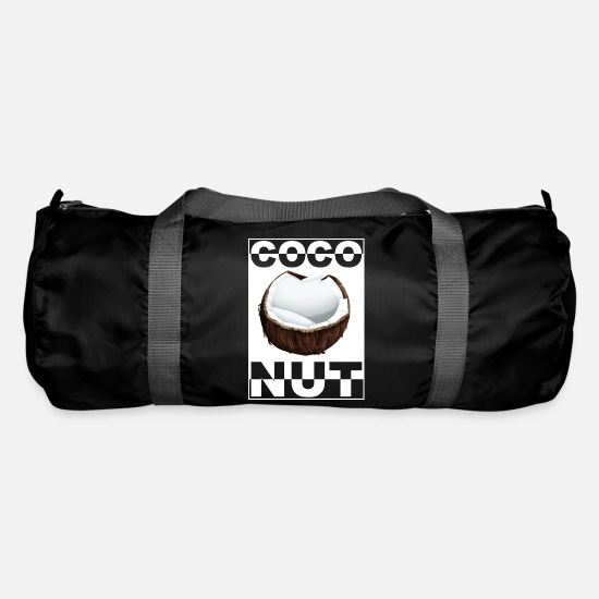 Kokosnöt (vit) Sportväska svart