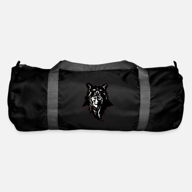 Loupsgarous Man and wolf ( red indians ) - Sac de sport
