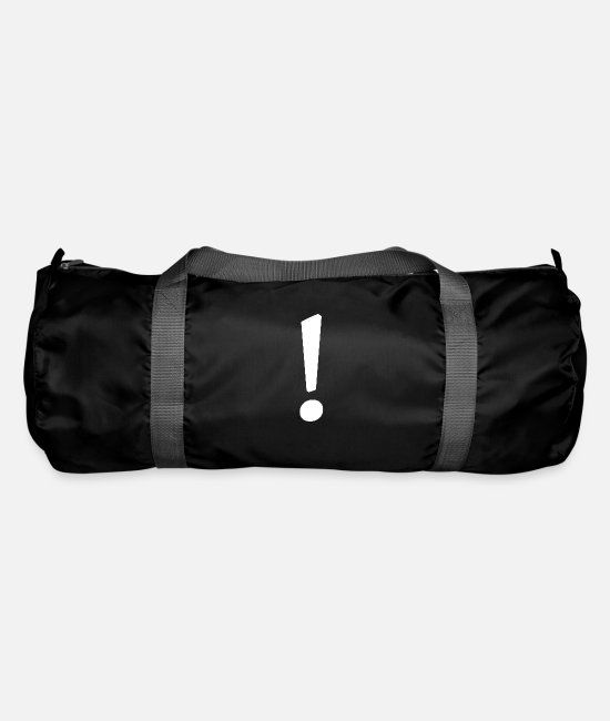 Birthday Bags & Backpacks - exclamation mark - Duffle Bag black