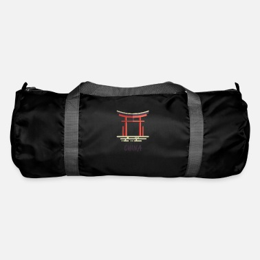 Shrine China temple shrine chiniese asia flag - Duffel Bag