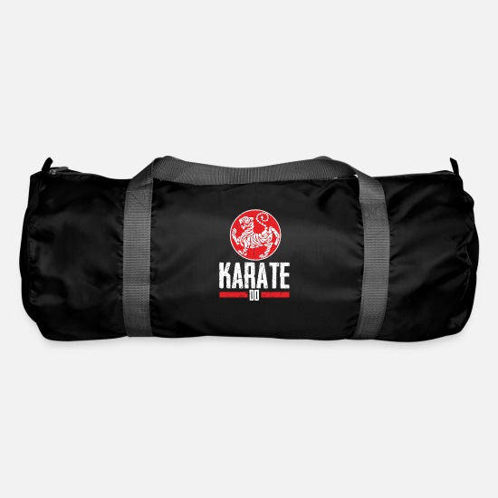 Martial Arts Bags & Backpacks - Horny Shotokan Tiger tribute to the karate-do style - Duffle Bag black