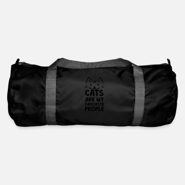 Text Cats are my favorite people - Duffle Bag