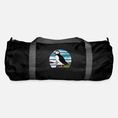 Painted Bird Painted Puffin Bird Design Illustration - Duffle Bag
