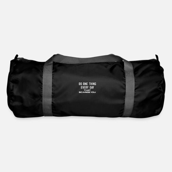 Birthday Bags & Backpacks - Do one thing every day that scares you saying courage - Duffle Bag black