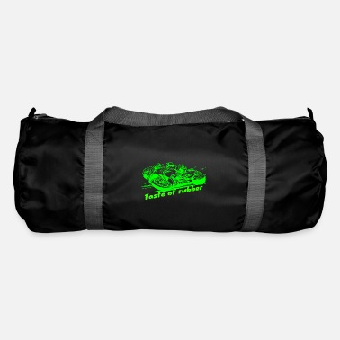 Motocycle Taste of rubber 2 green - Duffle Bag