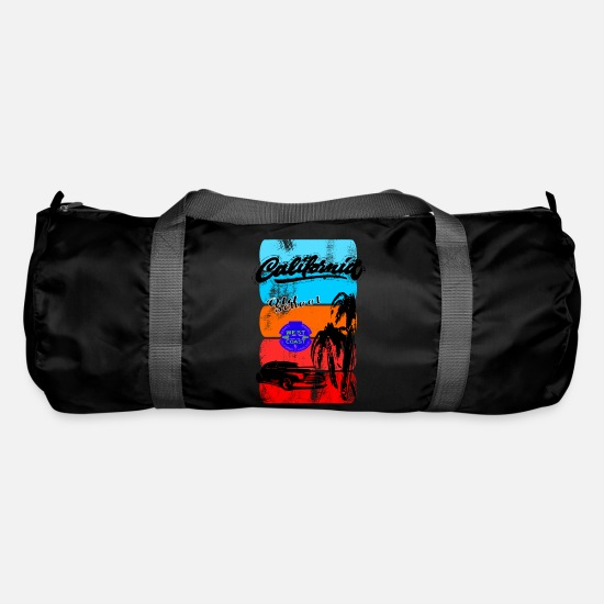 V8 Bags & Backpacks - Poster Retro California - Duffle Bag black