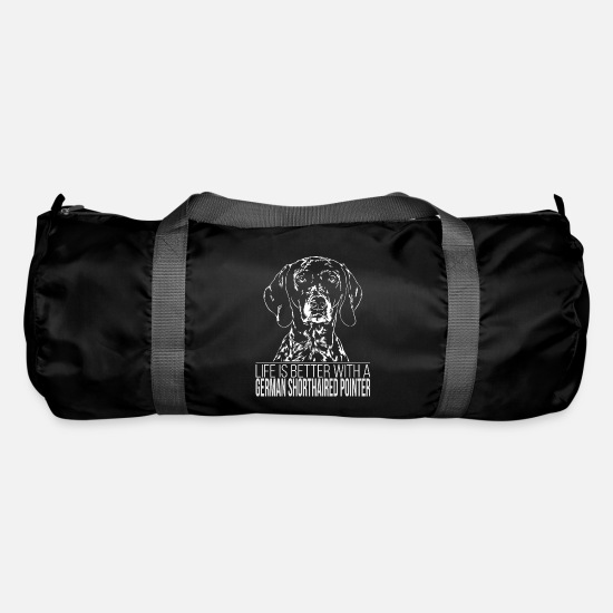 Pointer Bags & Backpacks - GERMAN SHORTHAIRED POINTER Life is better Wilsigns - Duffle Bag black