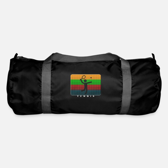 Stylish Bags & Backpacks - Tennis - Dynamic Pop Art Design - Duffle Bag black
