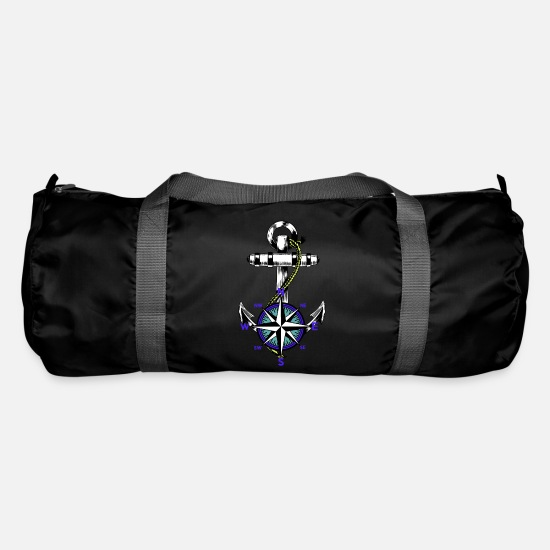 Maritime Bags & Backpacks - Anchor nautical maritime - Duffle Bag black