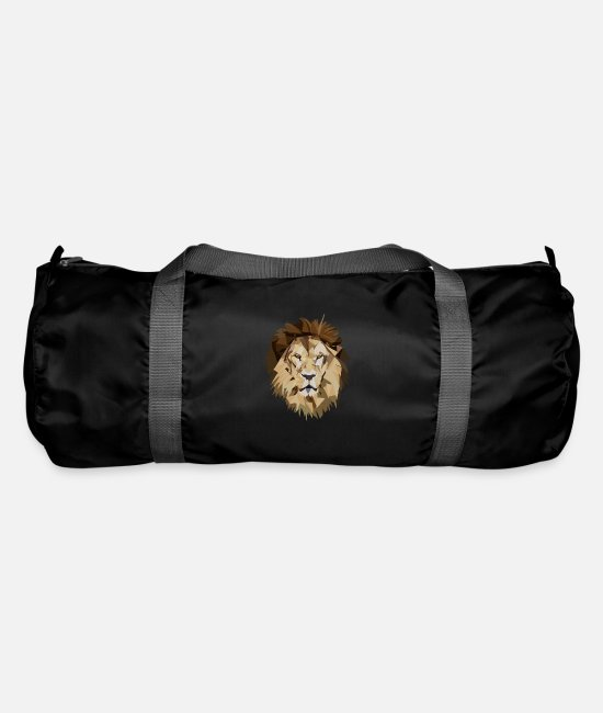 Nature Bags & Backpacks - The king of the beast - lion lion head - Duffle Bag black