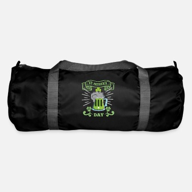 Drinking Beer St. Patrick's Day clover - Duffle Bag