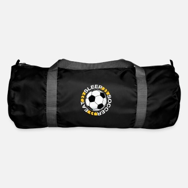 Sleeping &amp Eat Sleep Soccer Repeat T-Shirt - Duffle Bag