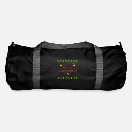 Mulled Wine Bags & Backpacks - Ugly Christmas T-Shirt Ugly Christmas Merry - Duffle Bag black