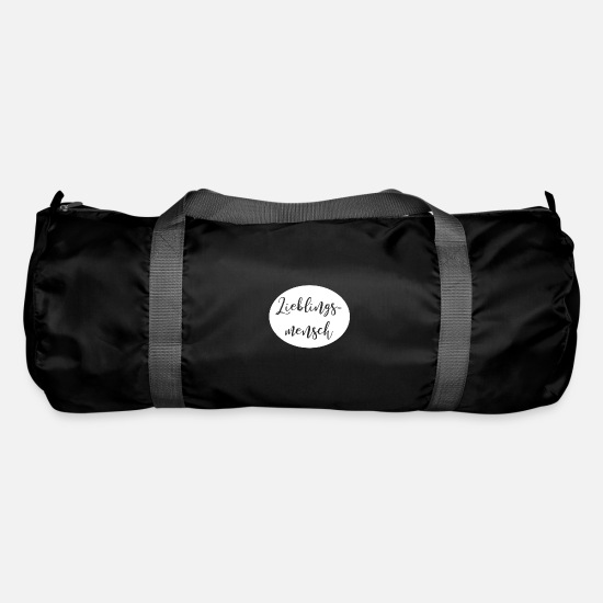 Bride Bags & Backpacks - Favorite human declaration of love gift - Duffle Bag black