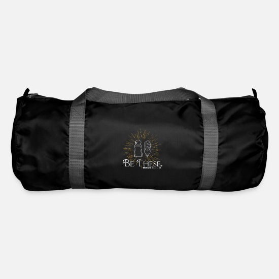 Think Bags & Backpacks - Jesus apostle salt light illuminates gift idea - Duffle Bag black
