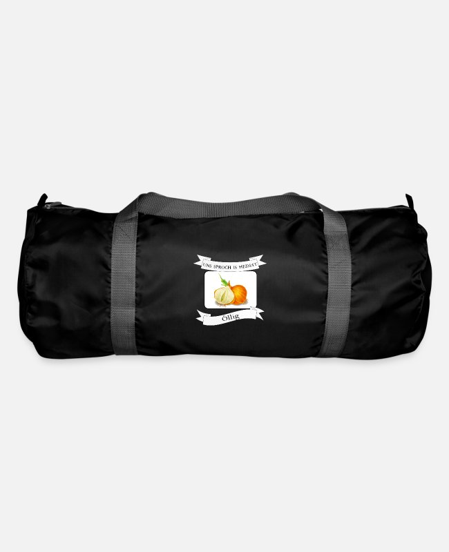 Christmas Bags & Backpacks - Oily onion on Kölsch, Cologne, dialect - Duffle Bag black