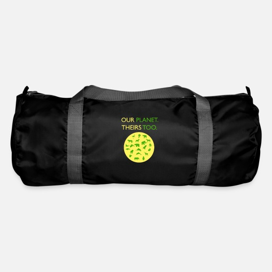 Animal Welfare Bags & Backpacks - Our planet. Theirs too. - Duffle Bag black