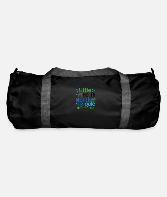 North Carolina Bags & Backpacks - Little Mister North Pole PNG - Duffle Bag black
