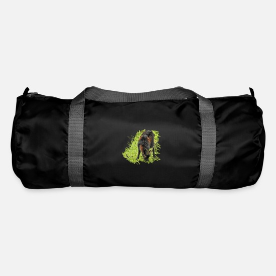 Gift Idea Bags & Backpacks - The Pinzgauer goat is a rare livestock - Duffle Bag black