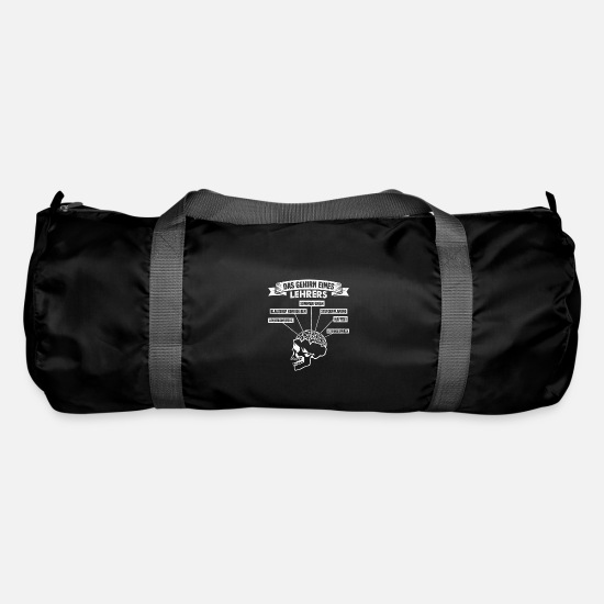 Gift Idea Bags & Backpacks - The Brain Of A Teacher School Student Student - Duffle Bag black