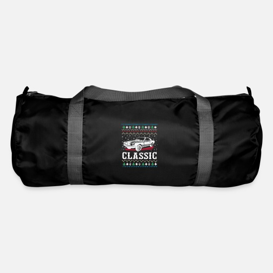 Car Bags & Backpacks - Classic Ugly Christmas Sweater - Duffle Bag black