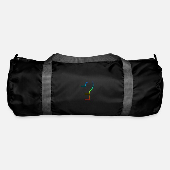 Kaboom Bags & Backpacks - Question question question mark rainbow - Duffle Bag black