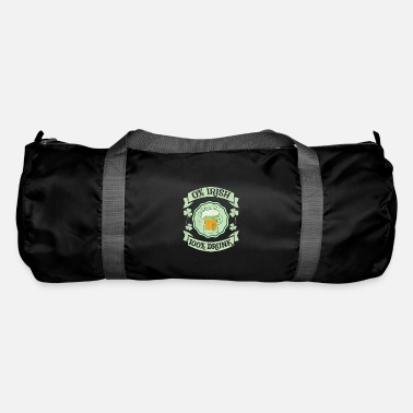 St Patrick's Day 0% Irish 100% Drunk Distressed - Duffle Bag