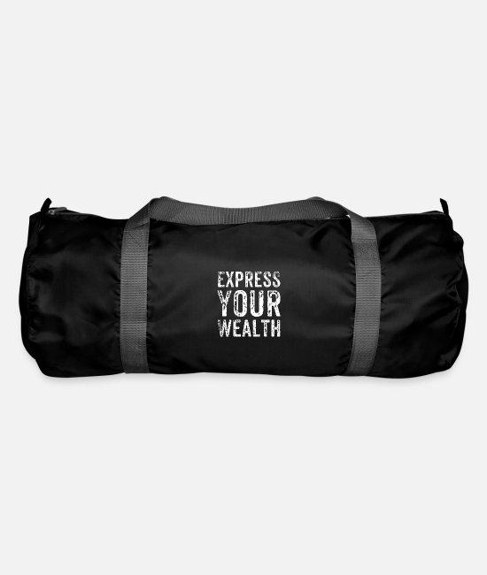 Bless You Bags & Backpacks - Wealth Wealth Indicate money fortune gift - Duffle Bag black