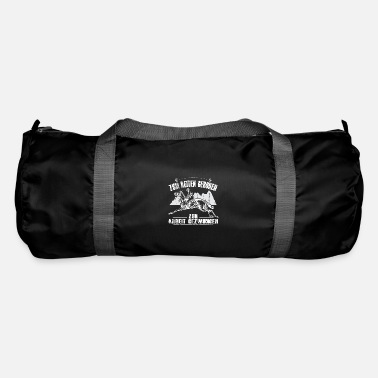 Humour For riding Born forced to work - Duffle Bag