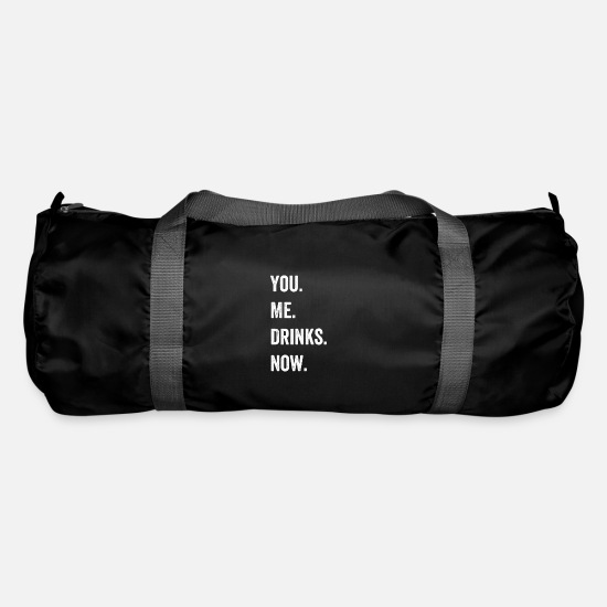 Alcohol Bags & Backpacks - You Me Drinks Now Pickup Artist Bartender Gift - Duffle Bag black