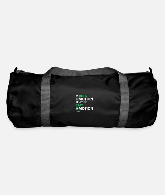 Geek Bags & Backpacks - March for Science: A Body in Motion Stay in Motio - Duffle Bag black