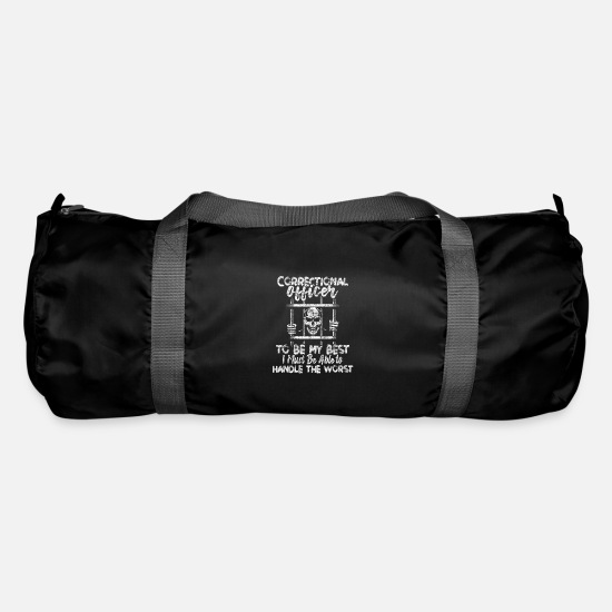 Security Guard Bags & Backpacks - Correctional Officer Prison Officer - Duffle Bag black
