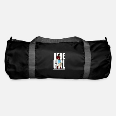 Scottish Terrier on Red Grunge Print Design Gym Bag
