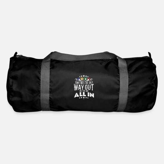 Hold'em Sacs et sacs à dos - COOL CASINO GAMBLOCK POKER PLAYER CADEAU - Sac de sport noir