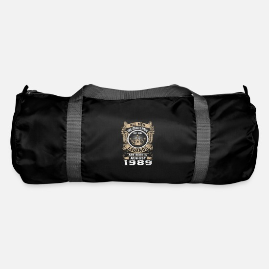 30th Birthday Bags & Backpacks - Legends Born In August 1989 - Duffle Bag black