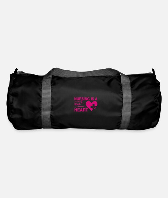 Bless You Bags & Backpacks - Nurse hospital care gift - Duffle Bag black
