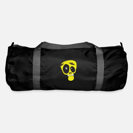 Birthday Bags & Backpacks - Funny skull halloween kids clothes - Duffle Bag black