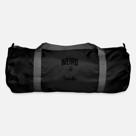 Weird Bags & Backpacks - Weird drink - weird drink - Duffle Bag black